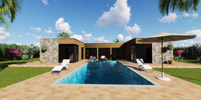 facade piscine pierre